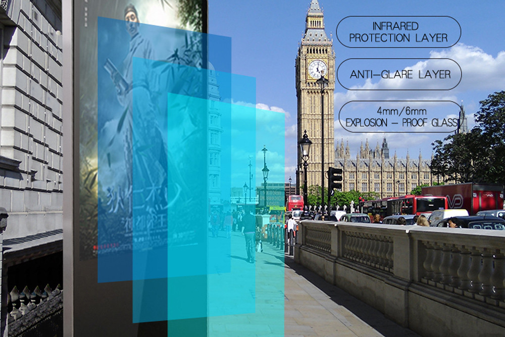Hengstar -High-quality Floor Standing Vertical Advertising Display Digital Signage-1