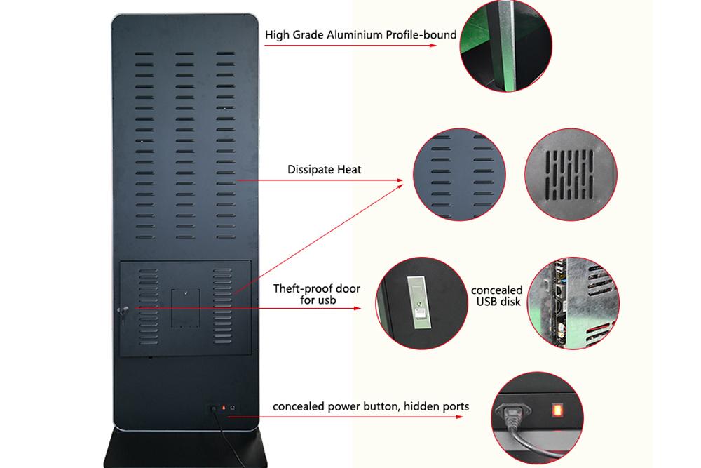 Hengstar -High-quality Floor Standing Vertical Advertising Display Digital Signage-2