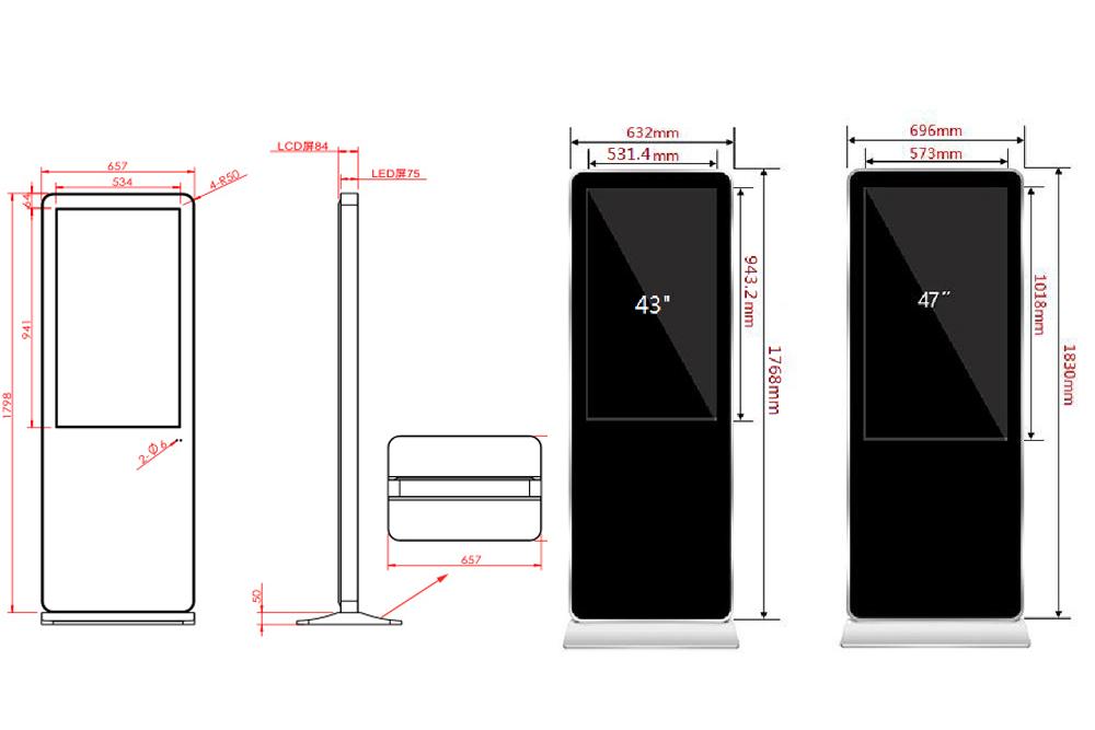 Hengstar -High-quality Floor Standing Vertical Advertising Display Digital Signage-4