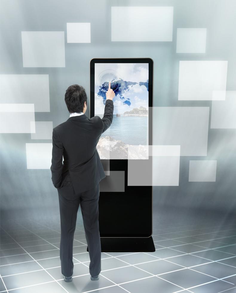 Hengstar -High-quality Floor Standing Vertical Advertising Display Digital Signage-7