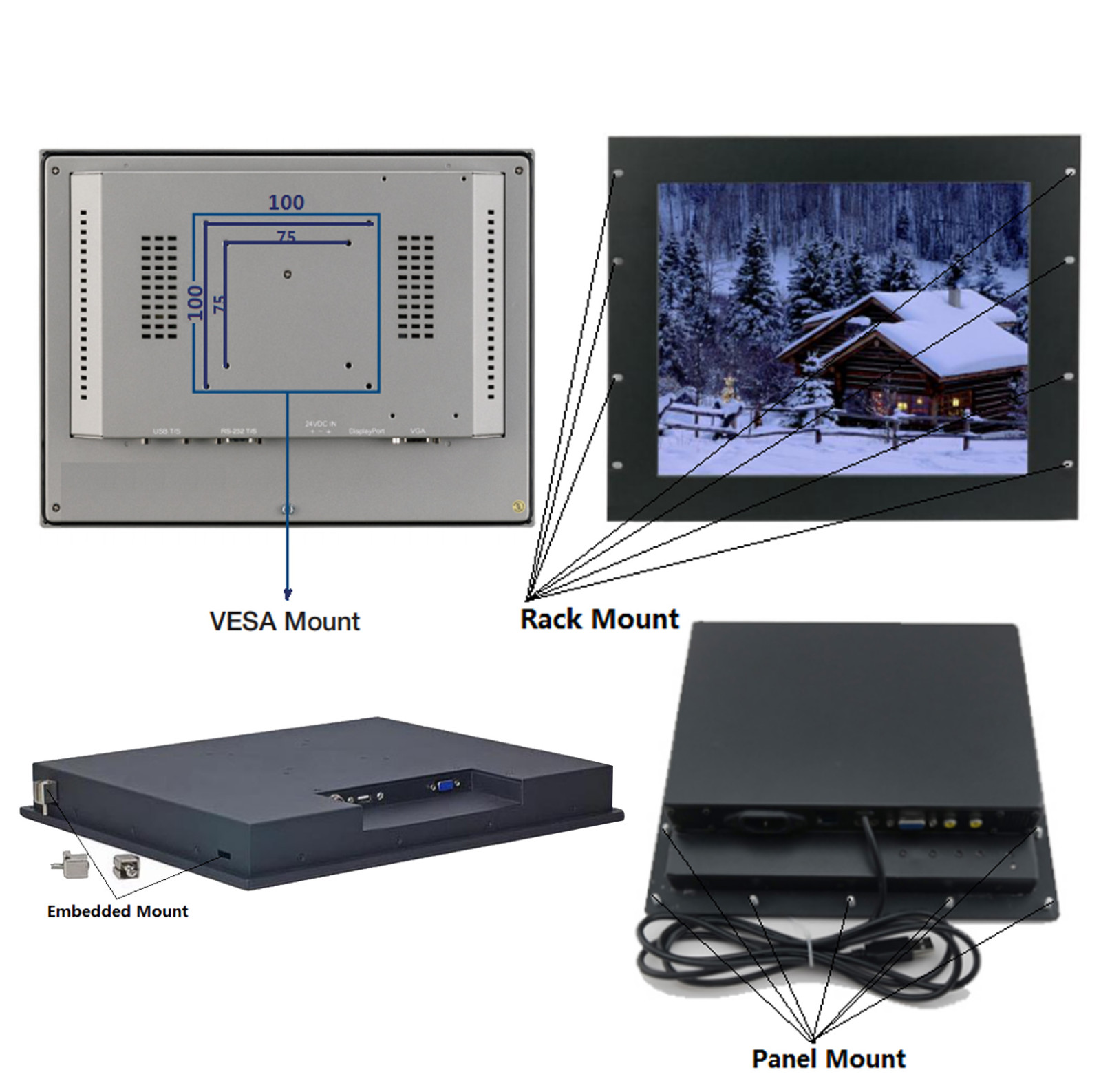 Hengstar -Best Ip65 Rack Mount Embedded Mount Panel Mount Touch Sreen-12