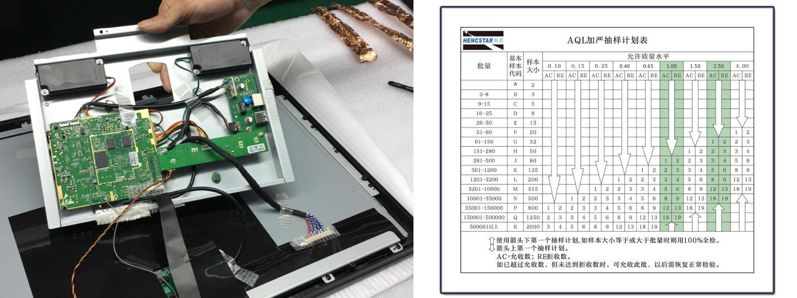 touch Custom screen lcd open frame monitor Hengstar open