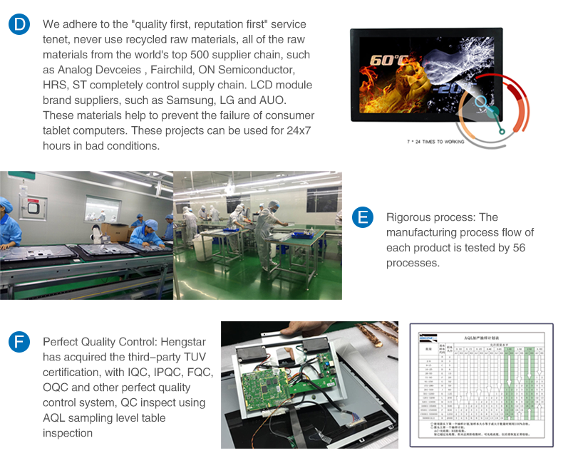 Hengstar -Industrial Lcd Display, Ip65 Rack Mount Vesa Embedded Mount Panel-14