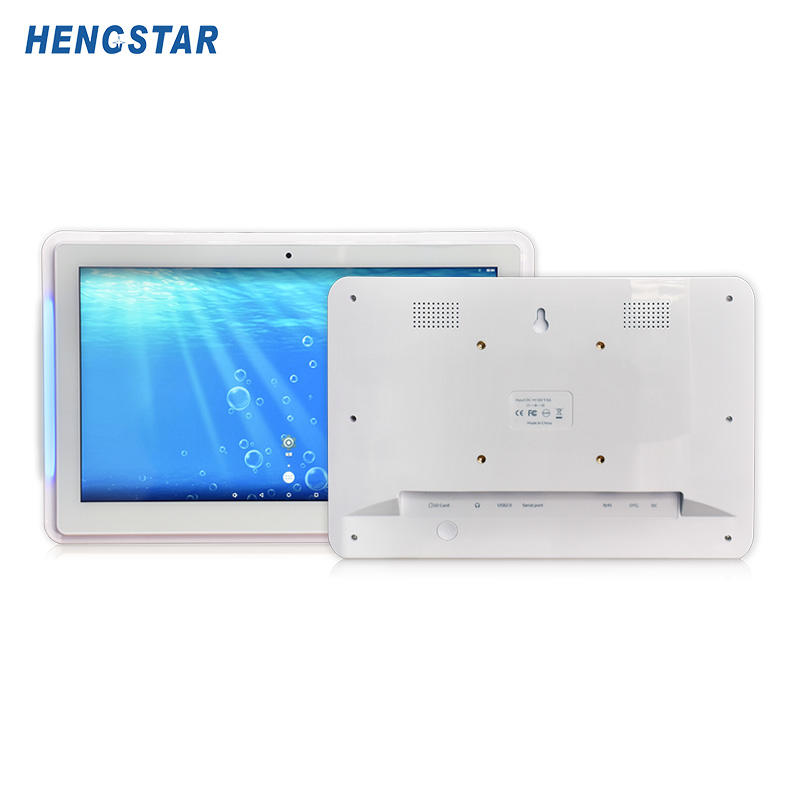 Touch Screen PC Smart office solution 1080P IPS panel POE android tablet with LED light bar