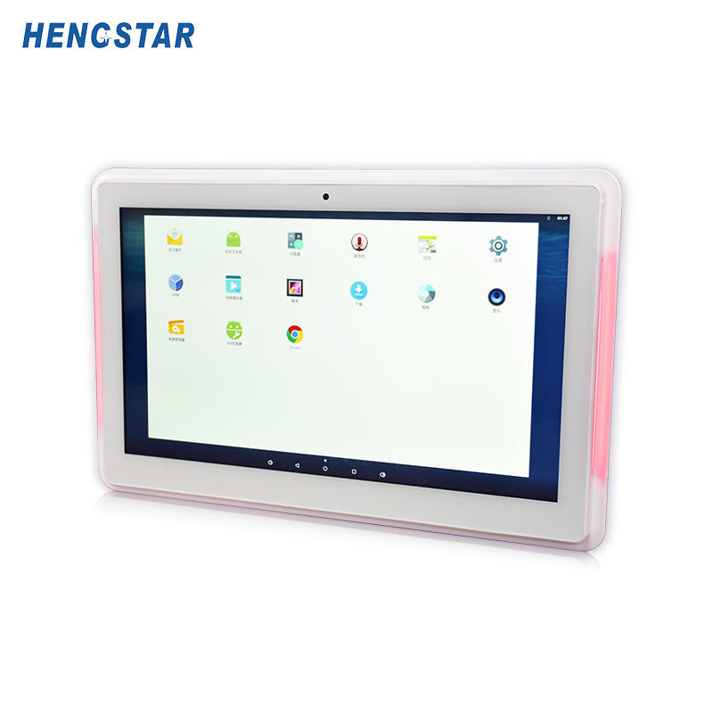 Smart office solution 1080P IPS panel POE android tablet with  LED light bar